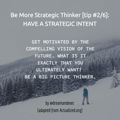 Get motivated with the compelling vision of the future.