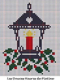 Christmas lantern perler bead pattern