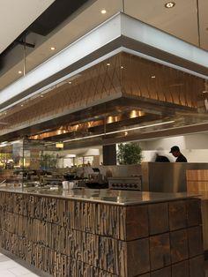 Viet Gourmet Noodle, designed by Tag Front Restaurant Booth, Restaurant Lounge, Restaurant Furniture, Open Kitchen Restaurant, Interior Design Gallery, Bar Interior, Restaurant Interior Design, Cafe Bar, Bar Counter Design