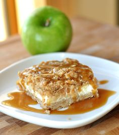 Mel's Kitchen Cafe | Caramel Apple Cheesecake Bars with Streusel Topping- A FABULOUS, AMAZING fall treat!!! Make it! -Alexis
