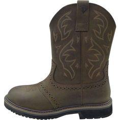 Herman Survivors Men's Rodeo Steel Toe Waterproof Pull On Work Boot, Size: 7.5, Brown