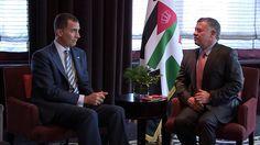 El Rey Don Felipe y el Rey Abdullah II de Jordania durante un encuentro que mantuvieron en Nueva York, EE.UU., 25.09.2015.
