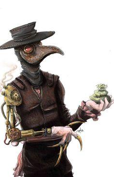 steampunk plague doctor plague doctor, plagu doctor, steampunk style, inspir, doctors, doctor art, steampunk gadget, steampunk plagu