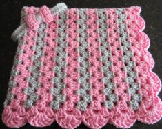 baby girl gift set, crochet baby blanket and headband gift set, pink and grey… Granny Stripe Crochet, Striped Crochet Blanket, Baby Girl Crochet Blanket, Easy Crochet Blanket, Baby Girl Blankets, Crochet Blanket Patterns, Crochet Baby, Baby Girl Gift Sets, Pink And Gray Nursery