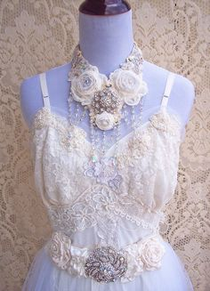 Romantic Vintage Lace Lingerie Dress  Tulle & by roselanijasmin, $420.00....she has such beautiful handmade items on Etsy..
