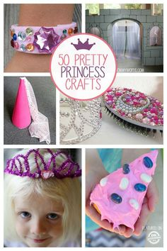 50 Pretty Princess Crafts for young girls Princess Crafts Kids, Princess Activities, Little Girl Crafts, Crafts For Girls, Fun Crafts, Dance Camp, Camping Crafts, Craft Activities For Kids, Kindergarten