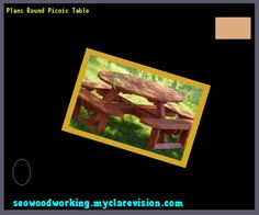 Plans Round Picnic Table 093805 - Woodworking Plans and Projects!