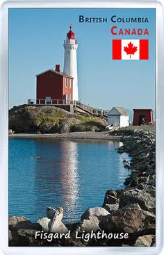 $3.29 - Acrylic Fridge Magnet: Canada. Fisgard Lighthouse National Historic Site