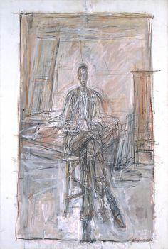 Alberto Giacometti - Seated Man, 1949