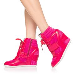 Sneaker wedges! Dress them up or dress them down, they will keep you comfortable and stylish ALL DAY LONG!