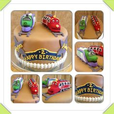 Chuggington Birthday Cake Vanilla And Chocolate Covered And - Chuggington birthday cake