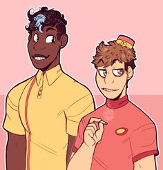 i really like nice cream guy and burgerpants. like. the ship of them is so random and weird and i love that.