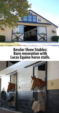 KY Thoroughbred Barn converted to Kessler Show stables.