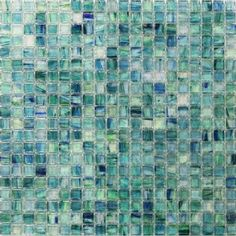 Tilebar-Celeste Summery Bloom Glass Tile 12 3/4 x 12 3/4.   6mm thick. $11.95 each