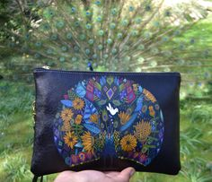 'Peacock Garden' Clutch Bag by Sharon Turner. Get yours at www.createandcase.com!