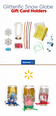 Glitterific Snow Globe Gift Card Holders   Walmart - Put a little sparkle in their day with these glittery, festive holders. Everything you need for this and other creative gift card ideas are at Walmart.