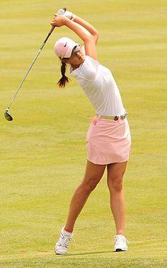 Michelle Wie's perfect posture. #golfer #lpga