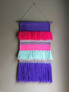 Woven wall hanging Tapestry Wall hanging Weaving Fiber by jujujust