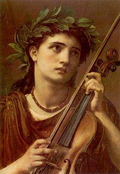 .:. Music, Heavenly Maid .Sir Edward John Poynter .