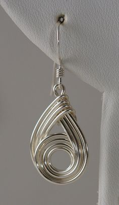 Wire earrings and pendant