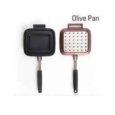 Olive Pan 14.8x6.5x1.7Inch Specialty Nonstick Omelette Pan, Sandwich Press, Steak Pan, Deep Pan, Fry Pan, Dishwasher Safe Cookware ** Find out more details by clicking the image : Chef's Pans