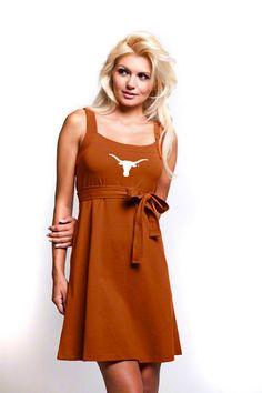 Texas Longhorns Women's Dark Orange Belted Dress