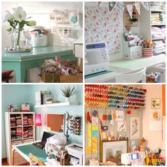 Sewing room inspiration by {Leila} Where Orchids Grow, via Flickr