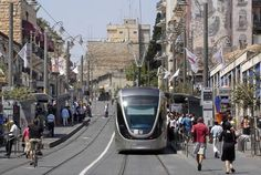 The #Jerusalem Light Rail, which opened in 2011, transports 100,000 people each day throughout the city. #Israel