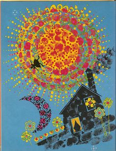 """Sally Go Round The Sun"" by Edith Fowke with illustrations by Carlos Marchiori; McClelland and Stewart. 1969."