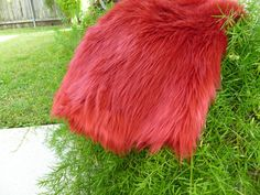 SALE $12 / Reg 16  Plush Shag Faux Fur  Red      by NonnaMiaCC, $12.00  Available in a variety of colors