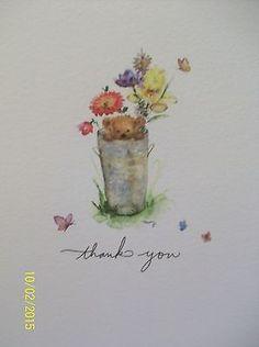 Hallmark Mary Hamilton Thank You Notecards Mary's Bears 10 Cards Envelopes Blank