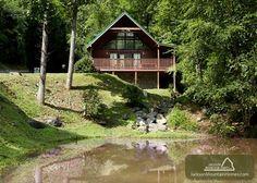 Gatlinburg Vacation Rental Chalet: ON SMOKY'S POND - Jackson Mountain Homes