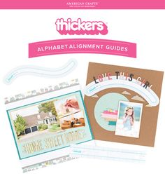 American Crafts / We R Memory Keepers Thickers Alignment Guides  | www.danipeuss.de Scrapbooking Stempeln Mixed Media Kartenbasteln Filofaxing