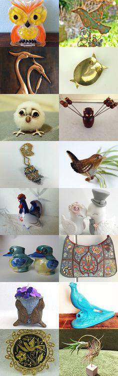 Feathered Friends by ElizaBella Designs on Etsy--Pinned+with+TreasuryPin.com