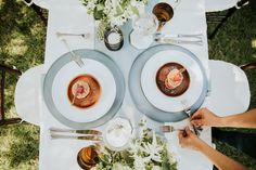 Setting the dessert table | A Family Style Meal by Colette's Catering & Events