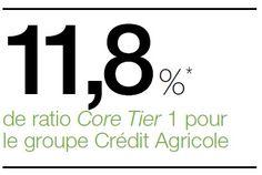 11,8 % * de ratio Core Tier 1 pour le groupe Crédit Agricole