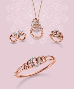 Viventy Jewels | Touch of Romance | Earrings, collier, ring and bangle | Korvakorut, kaulakoru, sormus ja ranneke | www.diamo.fi
