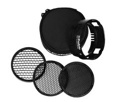 The OCF Grid Kit is a small and super portable kit consisting of a holder and three different honeycomb grids. Attach any of the three grids in front of the off-camera flash to reduce its light spread to either or Rim Light, Light Beam, Fotografia Online, Off Camera Flash, Camera Tripod, Photo Equipment, Flash Photography, Photography Lighting, Photo Lighting