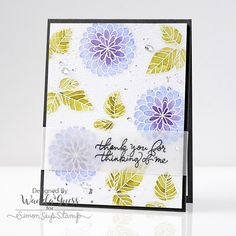 Beautiful thank you card using the brand new Simon Says Stamp July Card Kit!  https://www.simonsaysstamp.com/product/Simon-Says-Stamp-Card-Kit-of-The-Month-JULY-2016-HANDWRITTEN-FLORAL-GREETINGS-CK716-CK716?currency=USD