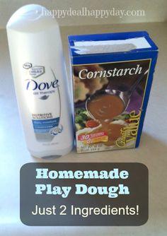 Home Made Play Dough   Cornstarch & Conditioner Play Dough – Super Easy!