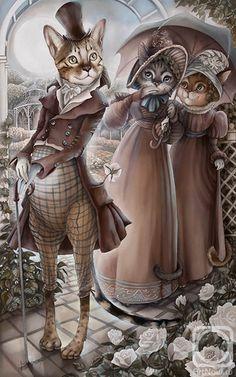 ஐ Sokolova Nadya Cats Art ஐ