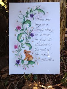 A beautiful Easter sentiment from Heather Victoria Held -- calligrapher extraordinaire