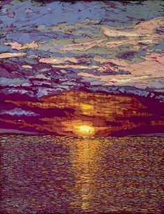 Sunset, batik by Terri Haugen