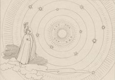 Dante and Beatrice in Primum Mobile, looking at The Empyrean Celestial Sphere, Dantes Inferno, John Frusciante, Wind Of Change, Dante Alighieri, Stream Of Consciousness, Royal Academy Of Arts, Art Object, Art Images