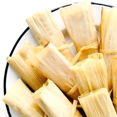 Learn how to make tamales with this easy recipe and step-by-step tutorial! They're easy to customize with your favorite fillings (chicken, . Gourmet Recipes, Cooking Recipes, Healthy Recipes, Cooking Tips, Cooking Ham, Freezer Recipes, Italian Cooking, Snacks Recipes, Freezer Cooking