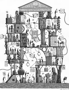 I think Tom Gauld might be my new favorite illustrator. Brilliant. drawingarchitecture: 'The Library'Tom Gauld