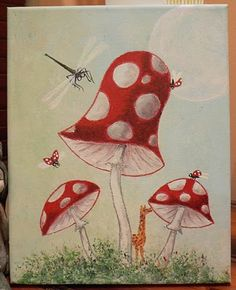 Patch-Doll Fairy magic - C Seager Great Works Of Art, Evil Queens, Balloon Rides, Simple Shapes, Lily Of The Valley, Beautiful Paintings, Mushrooms, Man Cave, Fairy Tales