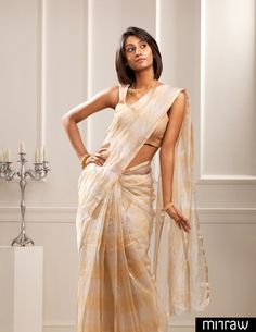 Elegant tissue Kota saree with silver & gold tissue horizontal alternative stripes.A saree for all occasions..!!!