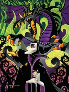 """Maleficent's Fury"" by Tim Rogerson for Disney Fine Art"