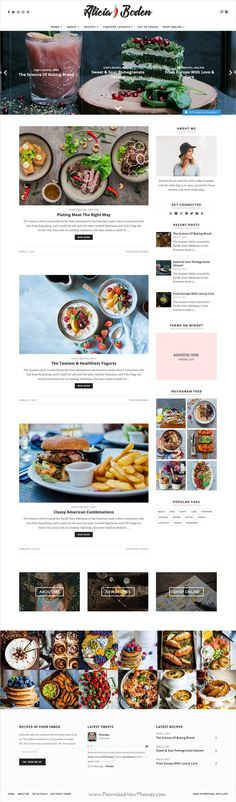 Shout is clean and modern design responsive #WordPress theme for #food #recipes news, blog and magazine website with 9 unique homepage layouts download now..